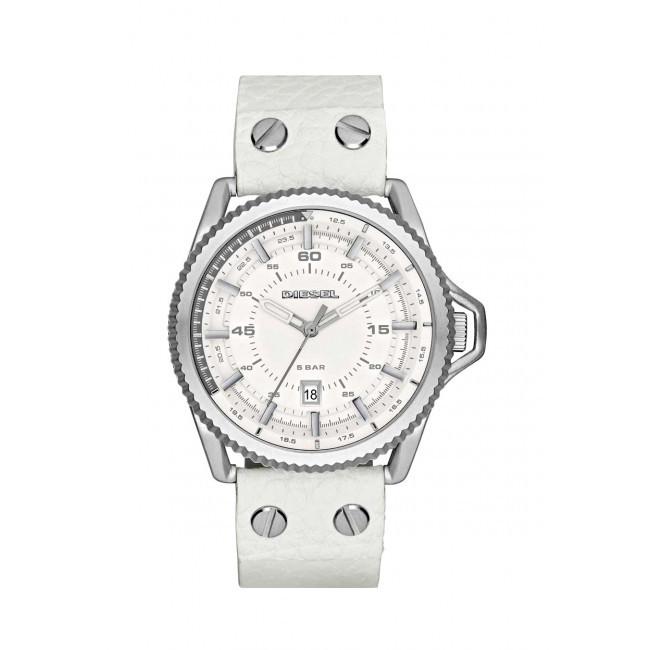 montre diesel bracelet cuir blanc