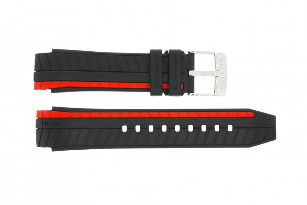 gamme complète d'articles frais frais acheter de nouveaux Lotus bracelet de montre 18103-2 / 18103-3 Caoutchouc Noir