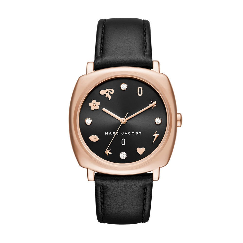 Jacobs Marc Montre Noir 18mm De Cuir By Bracelet Mj1565 Yb7yfgv6