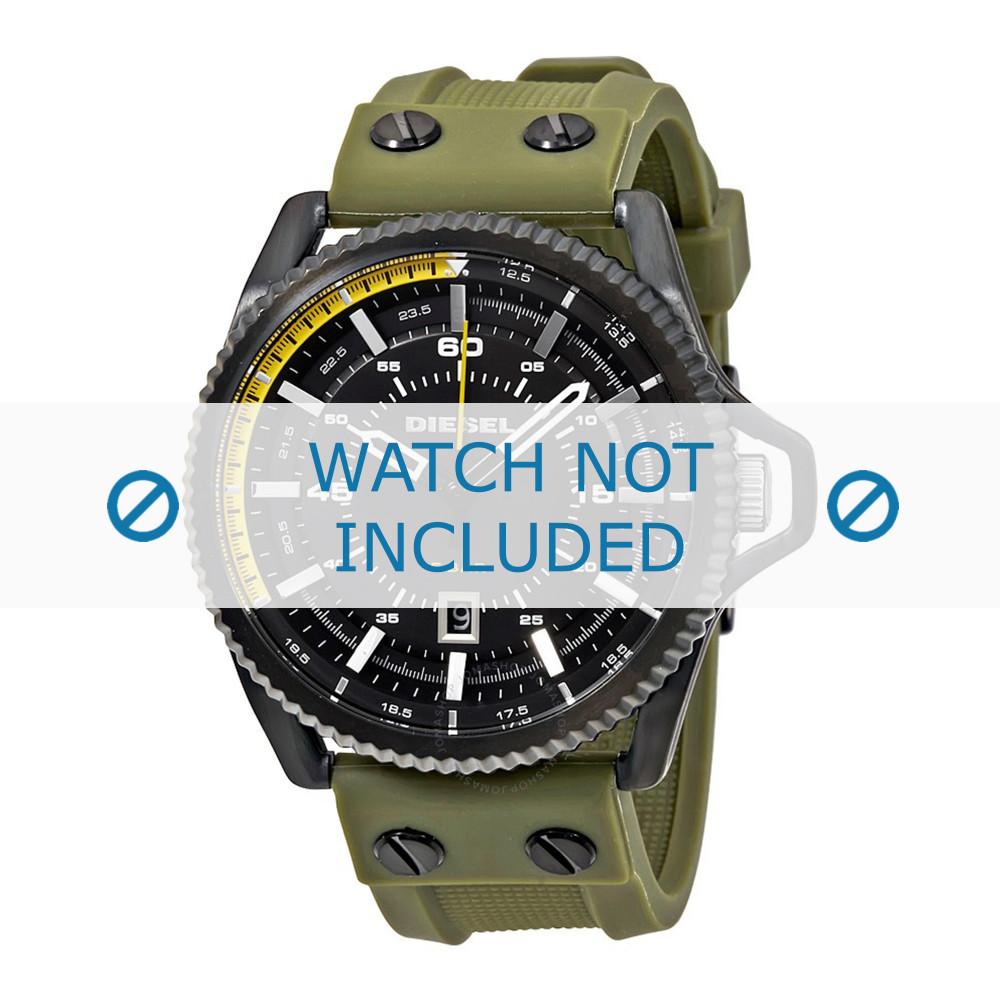 new list aliexpress exquisite design Bracelet de montre Diesel DZ1758 Silicone Vert 24mm