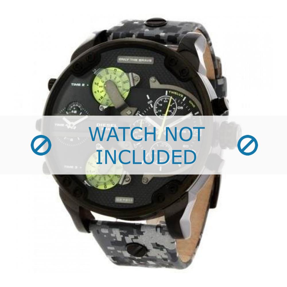 discount details for good Bracelet de montre Diesel DZ7311 Cuir Gris 28mm