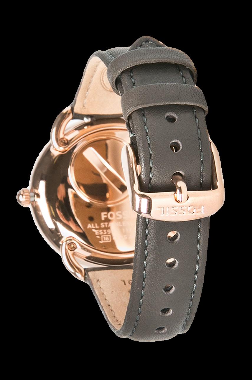 De Fossil Gris Bracelet 16mm Es3913 Cuir Montre dthQCrs