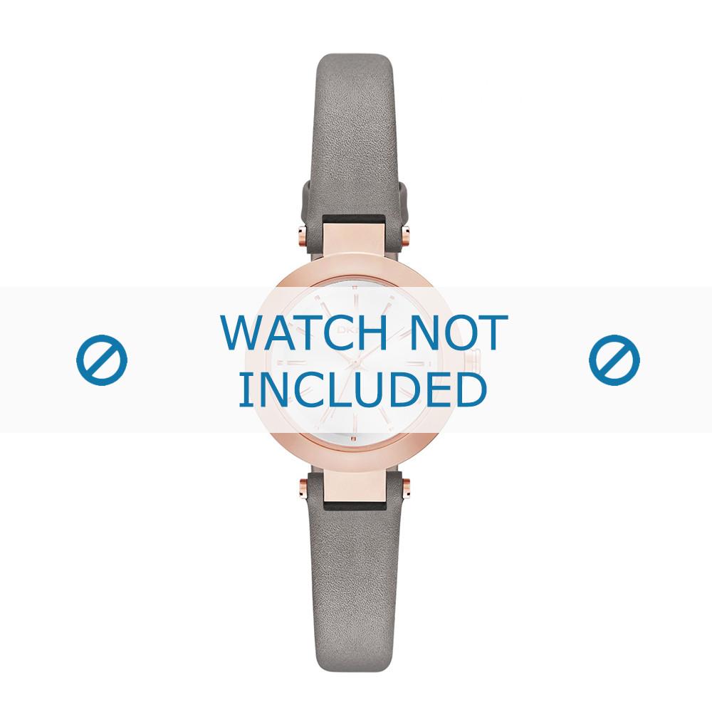 Bracelet Cuir De Montre Ny2408 Gris Dkny 8mm m0nwNv8