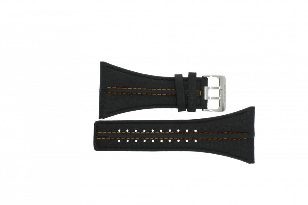 chaussures de sport 329b3 64466 Bracelet de montre Police PL.13497JS/02 Cuir Noir 44mm