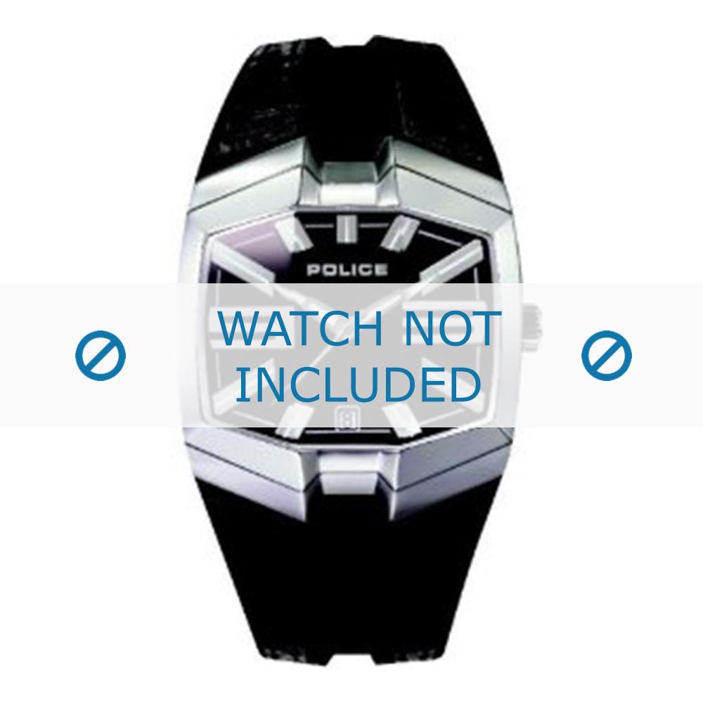 Couleurs variées 9689f 17f1e Police bracelet de montre 10971J Cuir Noir