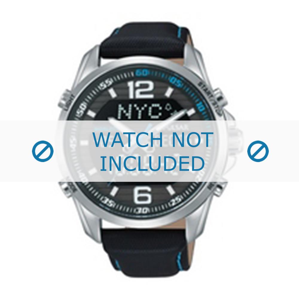 brand new biggest discount low cost Bracelet de montre Pulsar N021-X001 / PZ4005X1 Cuir Noir 22mm