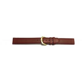 Bracelet de montre Universel W-LEDB-16 Cuir Brun 16mm