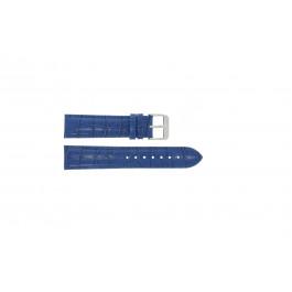 Bracelet de montre Universel 285.05 Cuir croco Bleu 24mm