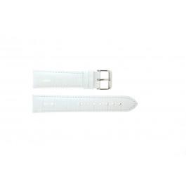 Bracelet de montre Universel 285.09 Cuir croco Blanc 22mm