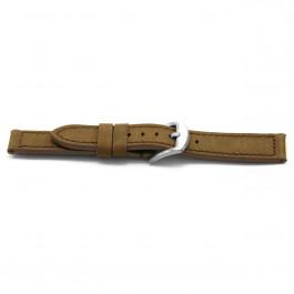 Bracelet de montre Universel E337 Cuir Brun 16mm