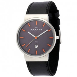 Bracelet de montre Skagen 351XLSLBMO Cuir Noir 20mm