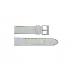 Bracelet de montre Universel 378.22 Cuir Blanc 22mm