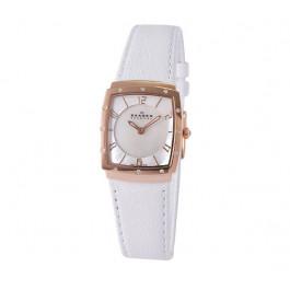Bracelet de montre Skagen 396XSRLW Cuir Blanc 18mm