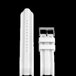 Bracelet de montre Nautica A15567G Caoutchouc Blanc 24mm