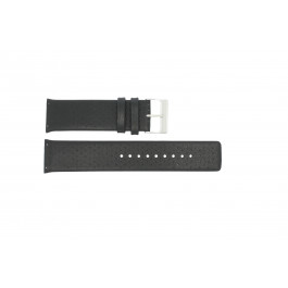 Bracelet de montre Skagen 806XLTLM / 806XLTBLB Cuir Noir 24mm