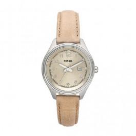 Bracelet de montre Fossil AM4377 Cuir Beige 14mm