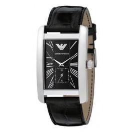 Bracelet de montre Armani AR0143 Cuir Noir 22mm