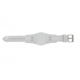Bracelet de montre Fossil CH2592 Cuir Blanc 22mm