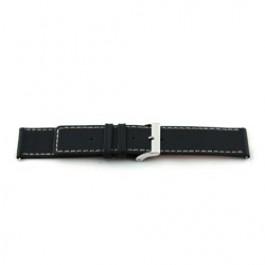 Bracelet de montre Universel L110 Cuir Noir 30mm