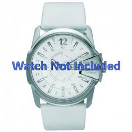 Bracelet de montre Diesel DZ1405 Cuir Blanc 28mm