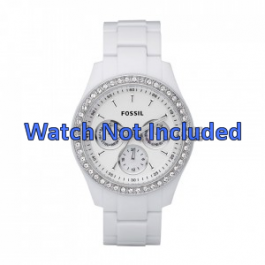 Bracelet de montre Fossil ES1967 Plastique Blanc 9mm