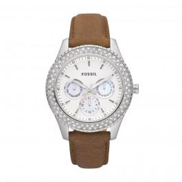 Bracelet de montre Fossil ES2996 Cuir Brun 18mm