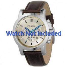 Bracelet de montre Fossil FS4248 Cuir Brun 22mm