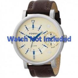 Bracelet de montre Fossil FS4338 Cuir Brun 24mm