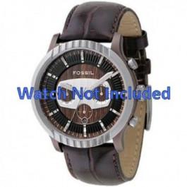 Bracelet de montre Fossil FS4441 Cuir Brun 27mm