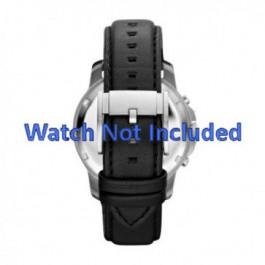 Bracelet de montre Fossil FS4647 Cuir Noir 22mm