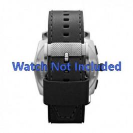Bracelet de montre Fossil FS4731 Cuir Noir 24mm