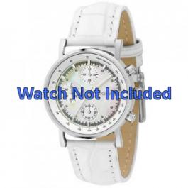DKNY bracelet de montre NY4528 Cuir Blanc 18mm + coutures défaut