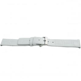 Bracelet de montre Universel H520 Cuir Blanc 22mm