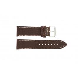 Bracelet de montre Universel I320 Cuir Brun 24mm