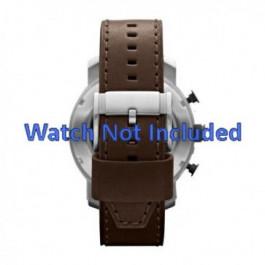 Bracelet de montre Fossil JR1390 Cuir Brun 24mm