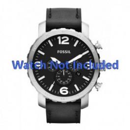 Bracelet de montre Fossil JR1436 Cuir Noir 24mm
