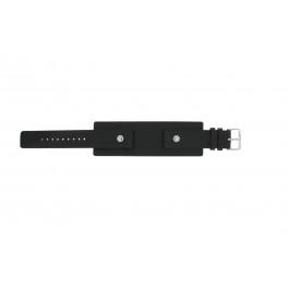 Bracelet de montre Fossil JR8122 Cuir Noir 20mm