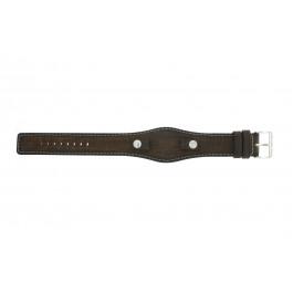 Bracelet de montre Fossil JR8130 Cuir Brun 10mm