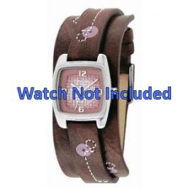 Fossil bracelet de montre JR-9512 Cuir Brun 12mm