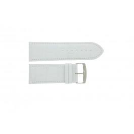 Bracelet de montre Universel 305R.09 Cuir Blanc 30mm