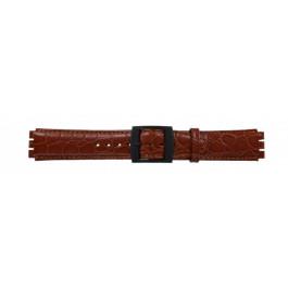 Bracelet de montre Swatch (alt.) SC10.03 Cuir Cognac 17mm