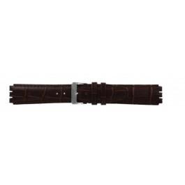 Bracelet de montre Swatch (alt.) 21414.27 Cuir Brun 17mm