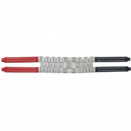 Tommy Hilfiger bracelet de montre F80132 / 1780068 Cuir Rouge / Bleu 4mm