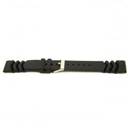 Bracelet de montre Universel XF11 Plastique Noir 18mm
