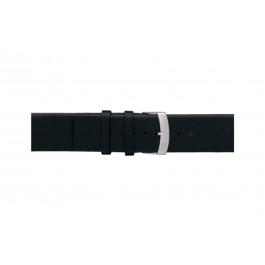 Morellato bracelet de montre Large X3076875019CR30 / PMX019LARGE30 Cuir souple Noir 30mm