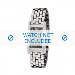 Armani bracelet de montre AR-0113 Métal Argent 19mm