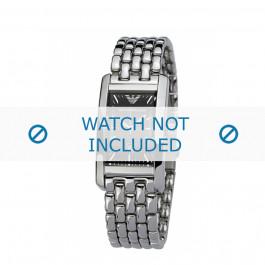 Armani bracelet de montre AR-0115 Métal Argent 14mm