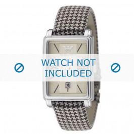Armani bracelet de montre AR-0135 Textile Brun 20mm