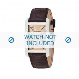Bracelet de montre Armani AR0154 Cuir Brun 22mm