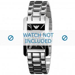 Armani bracelet de montre AR-0157 Métal Argent 18mm